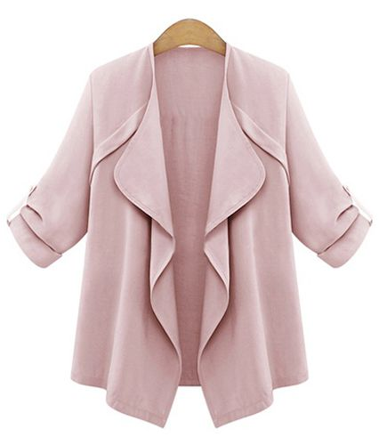 a9ee453d68e18 Trendy Turn-Down Collar Long Sleeve Solid Color Women s Coat
