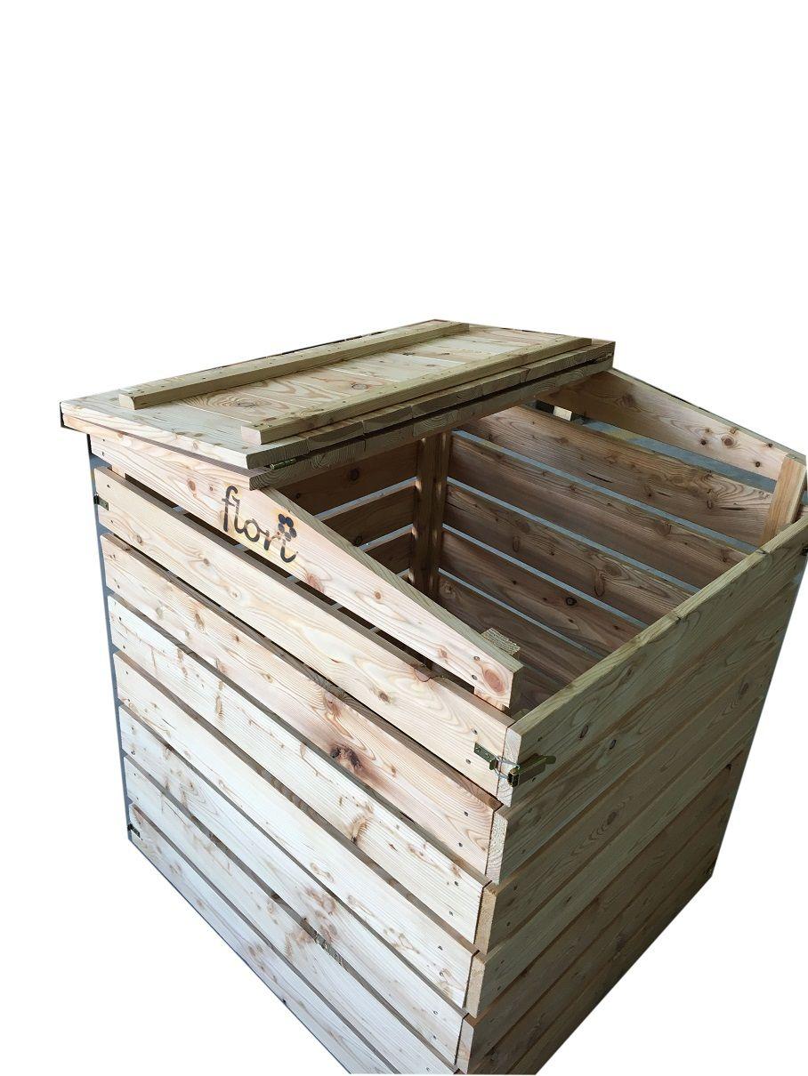 Hochwertiger Massiver Komposter Aus Fsc Zertifiziertem Larchenholz Fur Eine Umweltfreundliche Verwertung Von Gartenabfallen Kompost Larchenholz Pflanzenzubehor