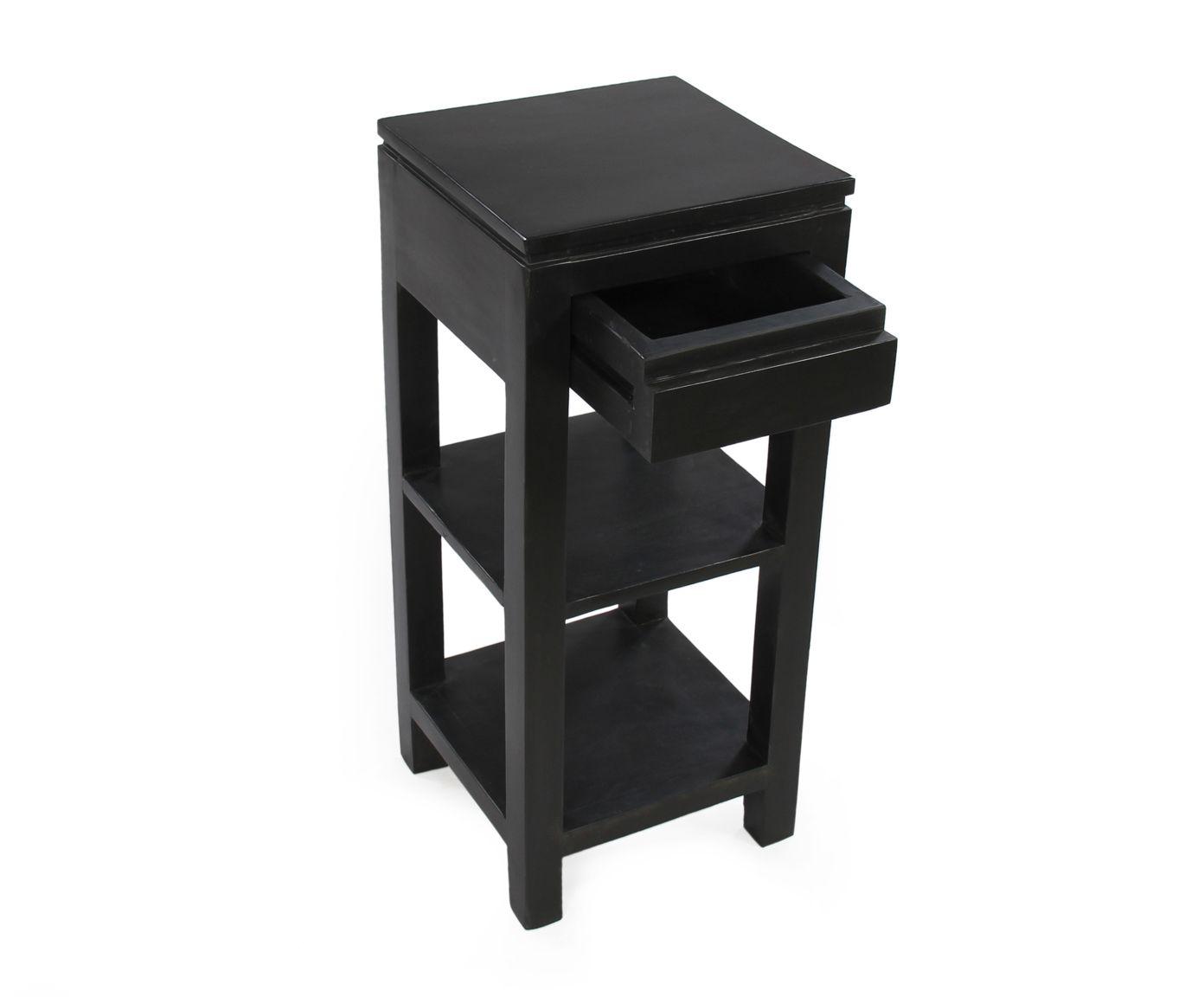 Meuble D Appoint Joan Bois D Acacia Noir L30 Westwing Home Living Meubles D Appoint Mobilier De Salon Meuble