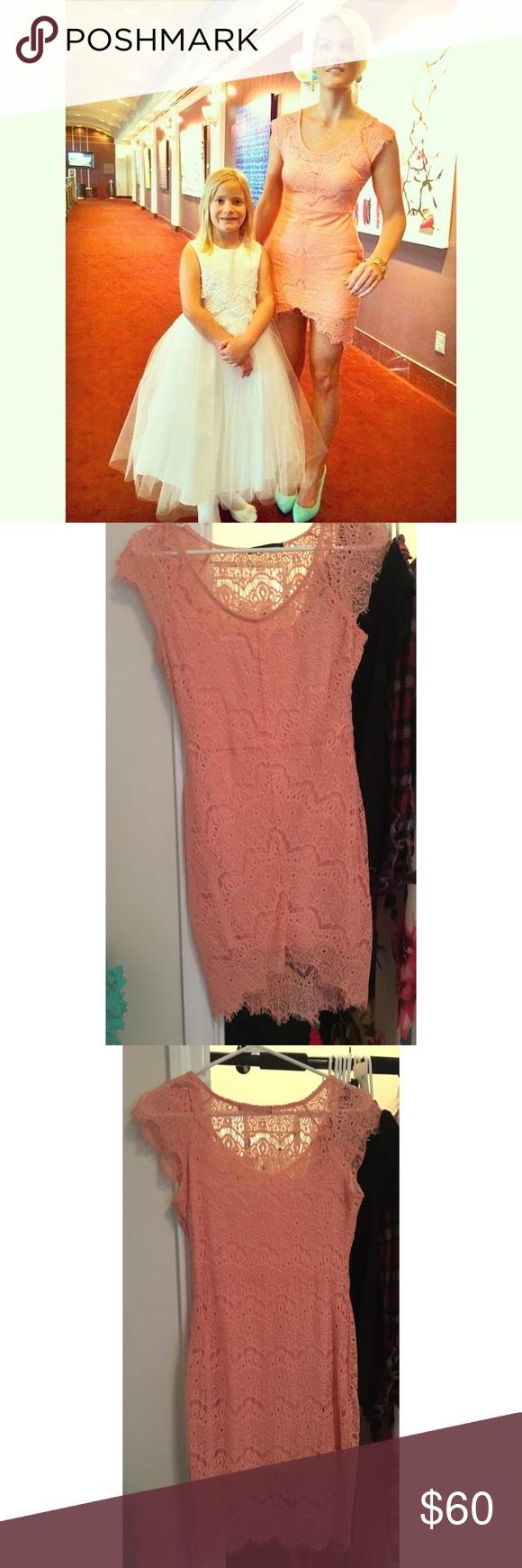 Lace dress pink  Light Coral Lace Dress  Coral lace dresses Coral lace and Lace dress
