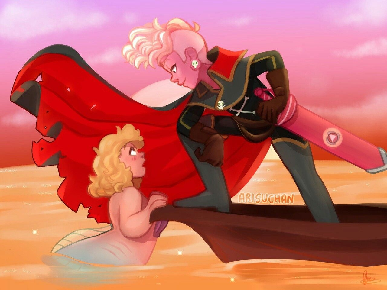 Arisuchan Tumblr Lars And Sadie Steven Universe Steven Universe Fanart Steven Universe Lars Of The Stars