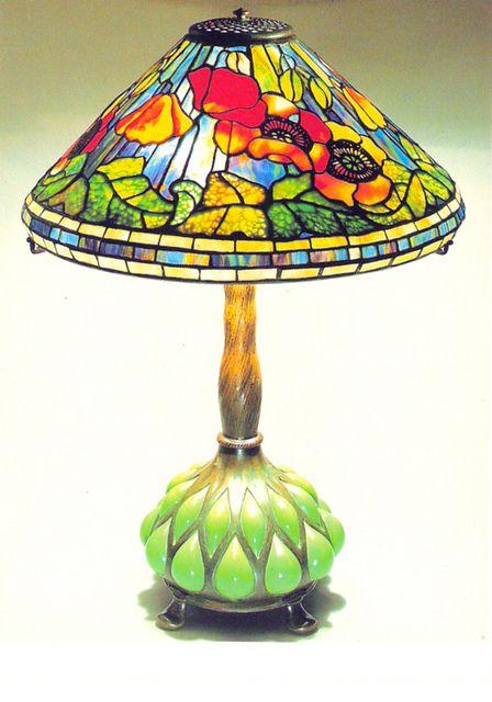 Tiffany Glass  love the base