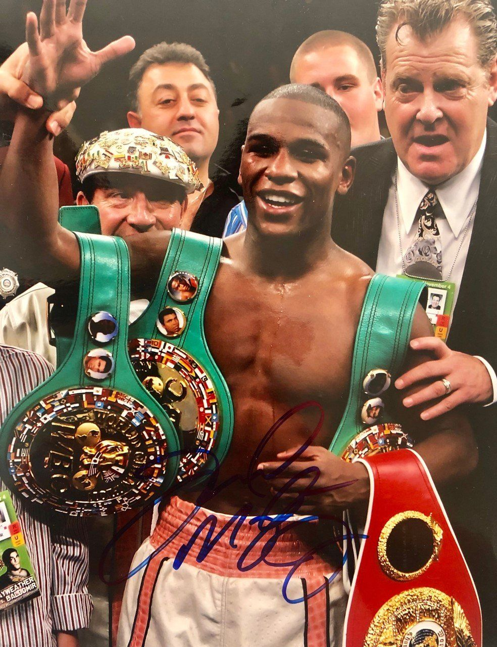 Floyd Mayweather Jr Autographed Photo 11x14 Size Young Floyd Con