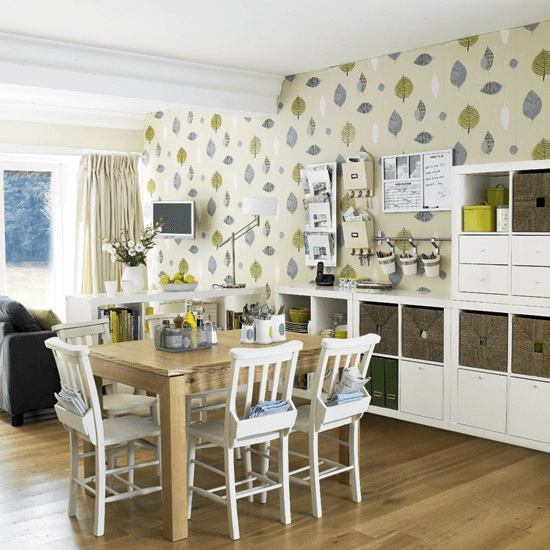 Wallpaper For An Open Plan Dining Room Kitchen Dining Room Small