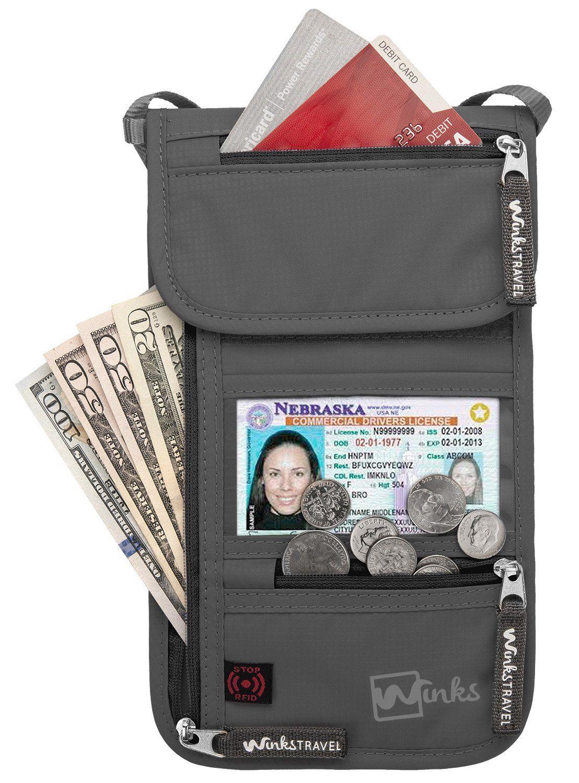 2f34be4d51c RFID Travel Neck Pouch Passport Holder
