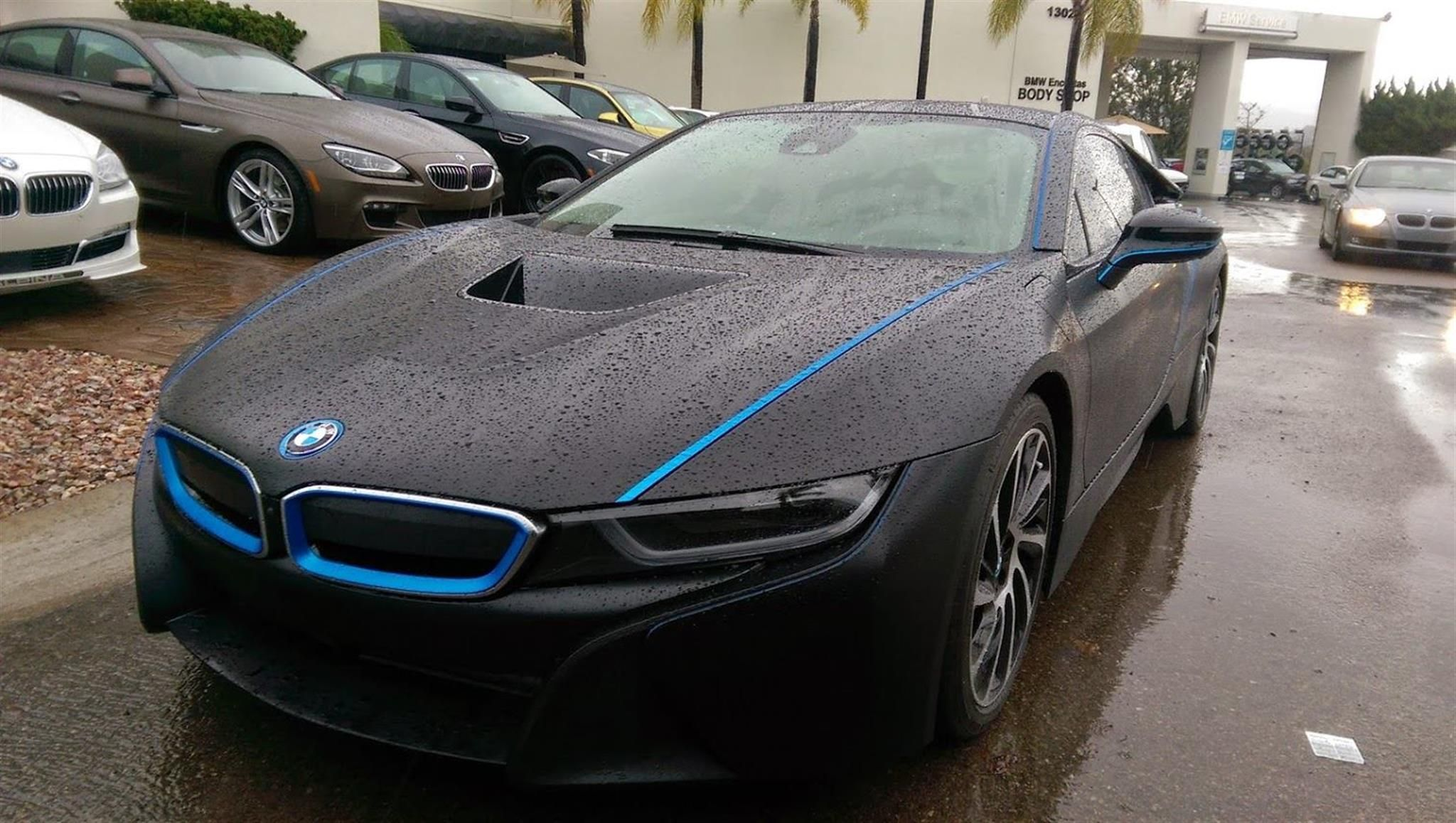 Bmw I8 Wrapped In Black By Bmw Encinitas In Encinitas Ca Click To