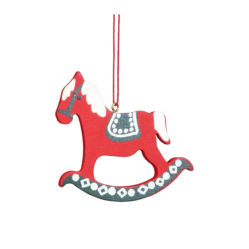 awesome Christian Ulbricht Ornament - Rocking Horse RedChristian Ulbricht Ornament - Rocking Horse Red - 2.5H X 2.5W X .25D Check more at http://christmasshortstory.com/product/christian-ulbricht-ornament-rocking-horse-red/