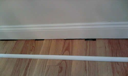 Add Quarter Round Molding To The Bottom Of Baseboards After Installing The Laminate To Cover Gaps Diy Home Improvement Home Diy Home Renovation