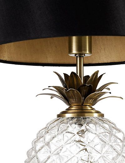 Pineapple tuscon table lamp black gold google search