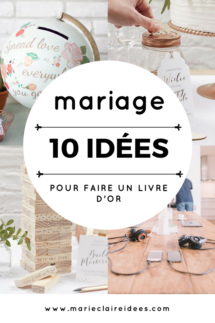 10 id es pour un livre d 39 or diy mariage wedding mariage et wedding planner. Black Bedroom Furniture Sets. Home Design Ideas