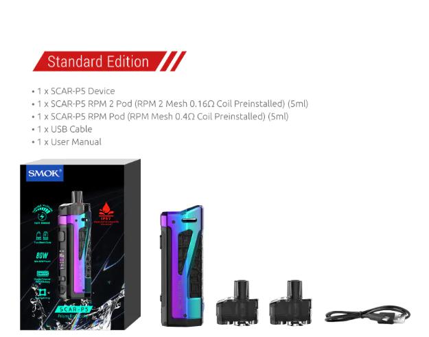 SMOK SCAR P5 Kit Include