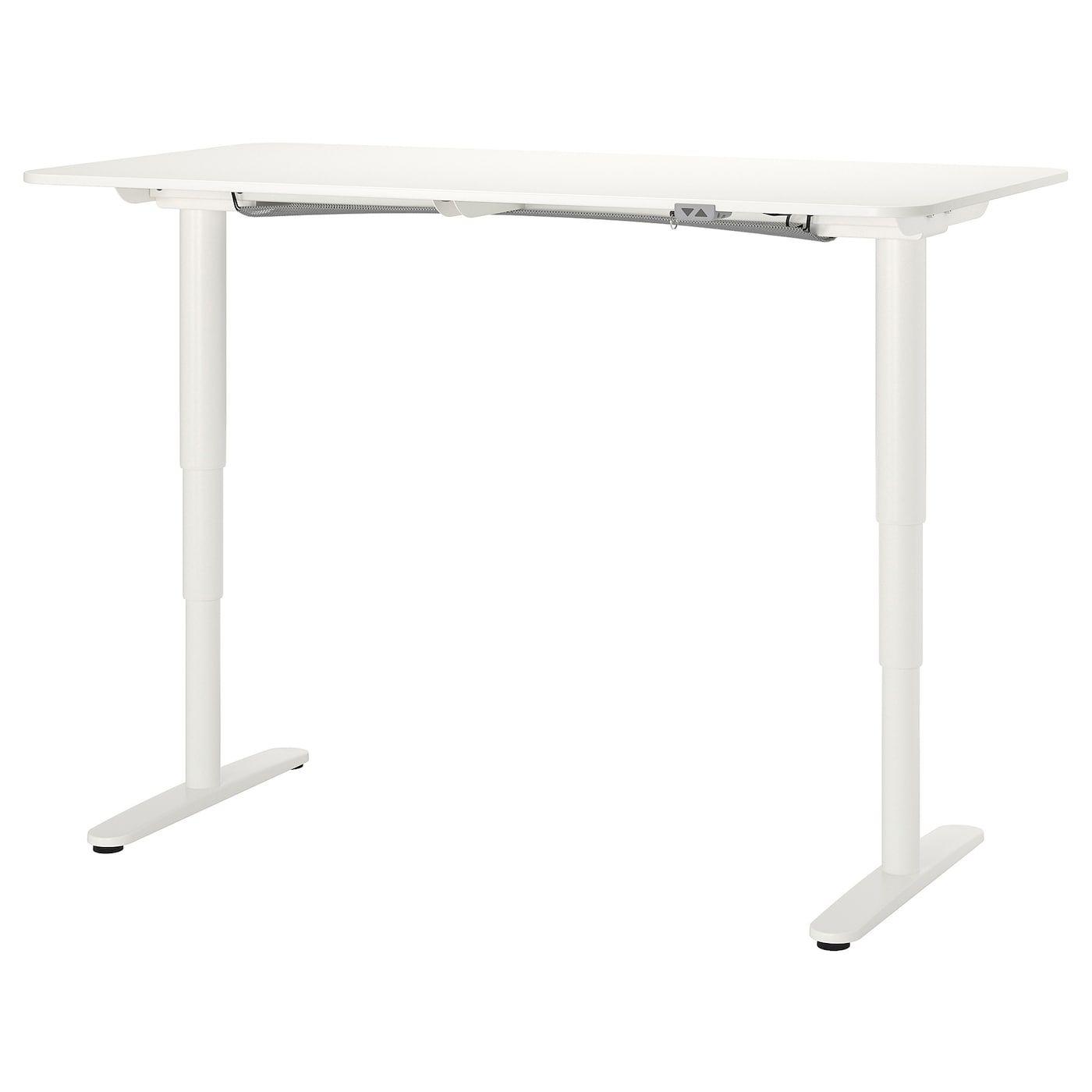 Bekant Skrivbord Sitt Sta Vit 160x80 Cm Ikea In 2020 Ikea Bekant Ikea Design Adjustable Table