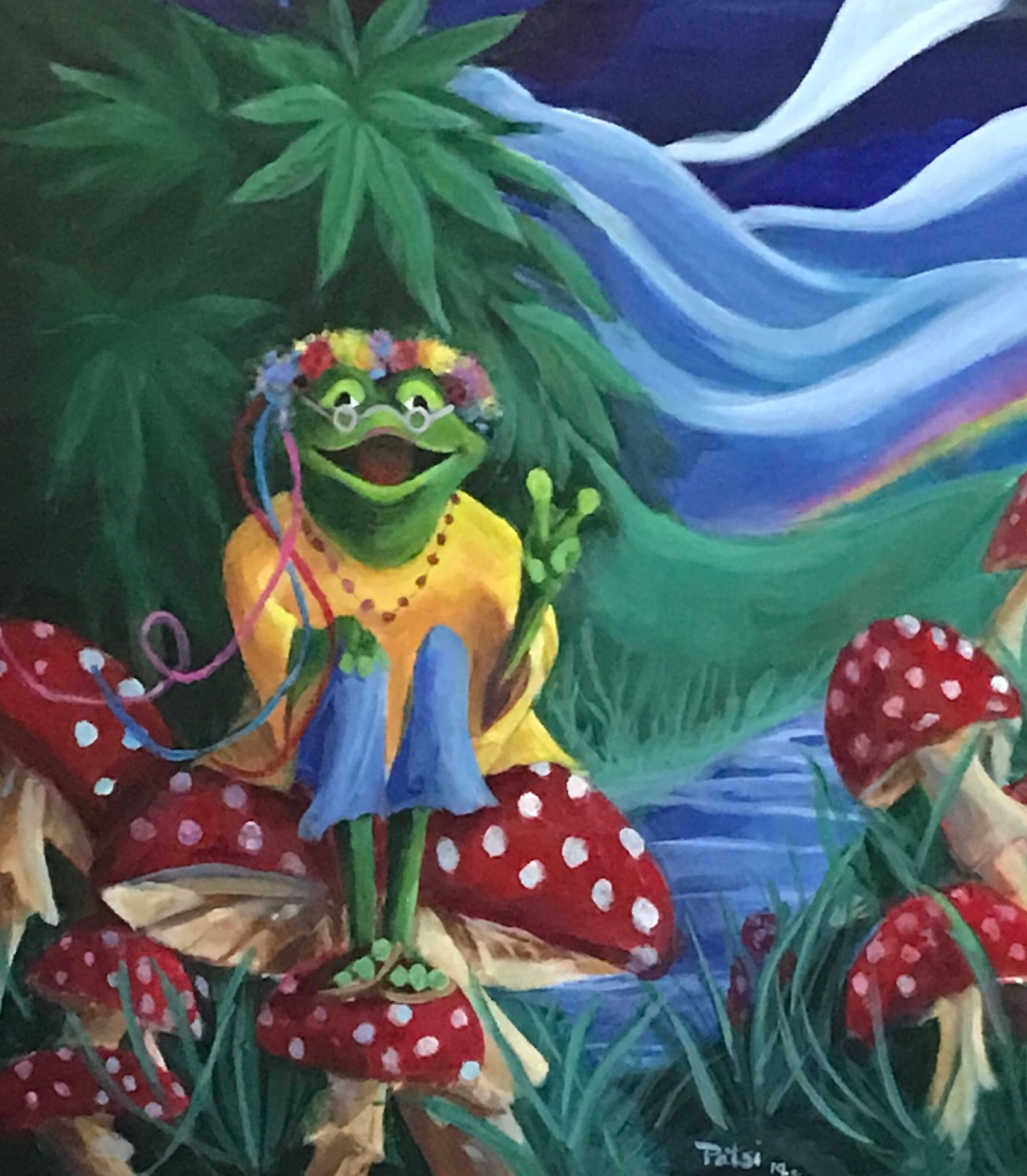 Pin On Hippie Frogs