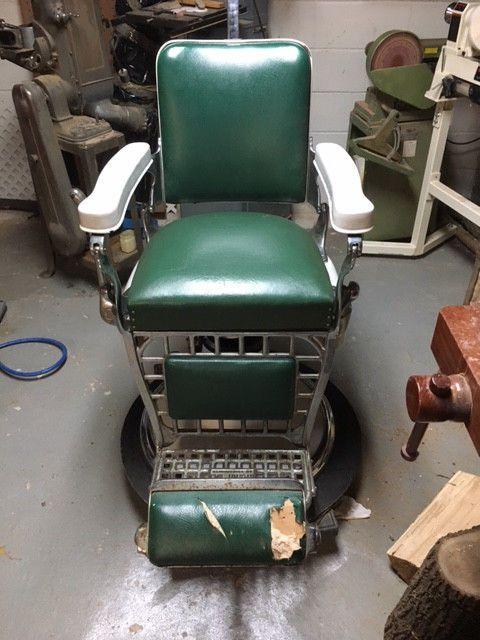 Antique Barber Chair Emil J Paidar