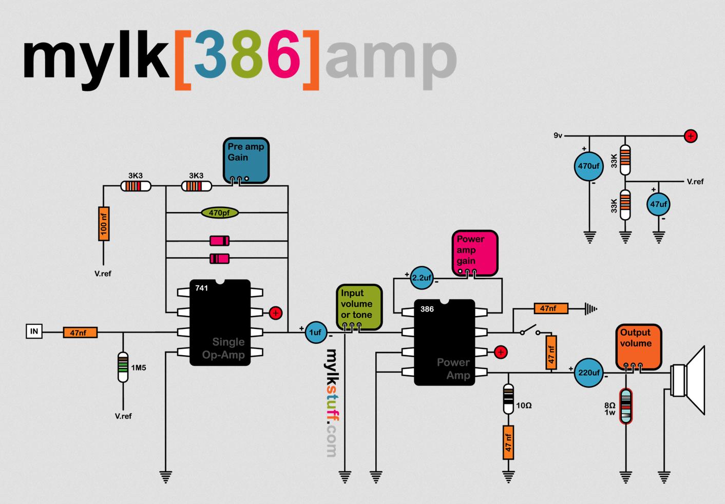 Mylk Blog 386 Amp Project Diys Guitar Diy Integrated Audio Amplifier Circuit Diagram Amplifiercircuitsaudio