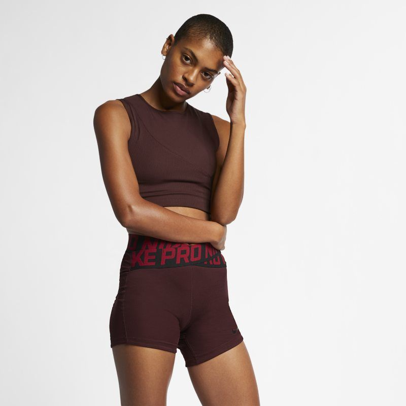 Nike Pro Hypercool Women S Ribbed Tank Brown Yoga Tank Women