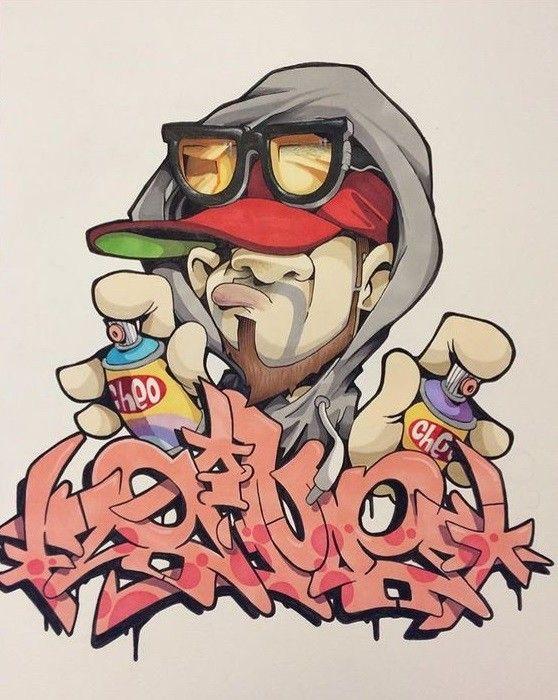 Рисунок в граффити онлайн