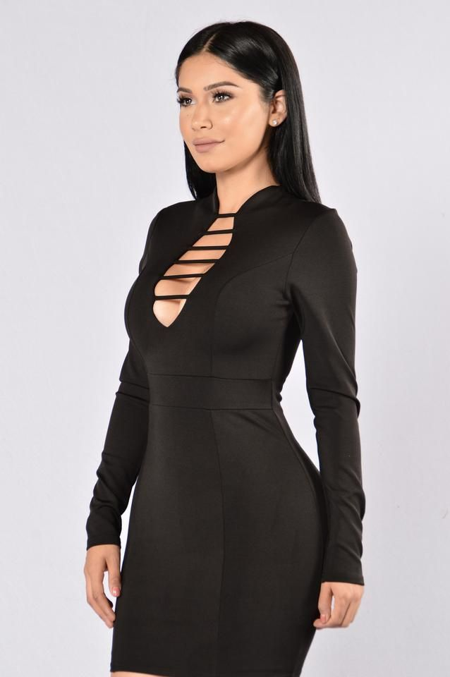 If You Wanna Be My Lover Dress - Black