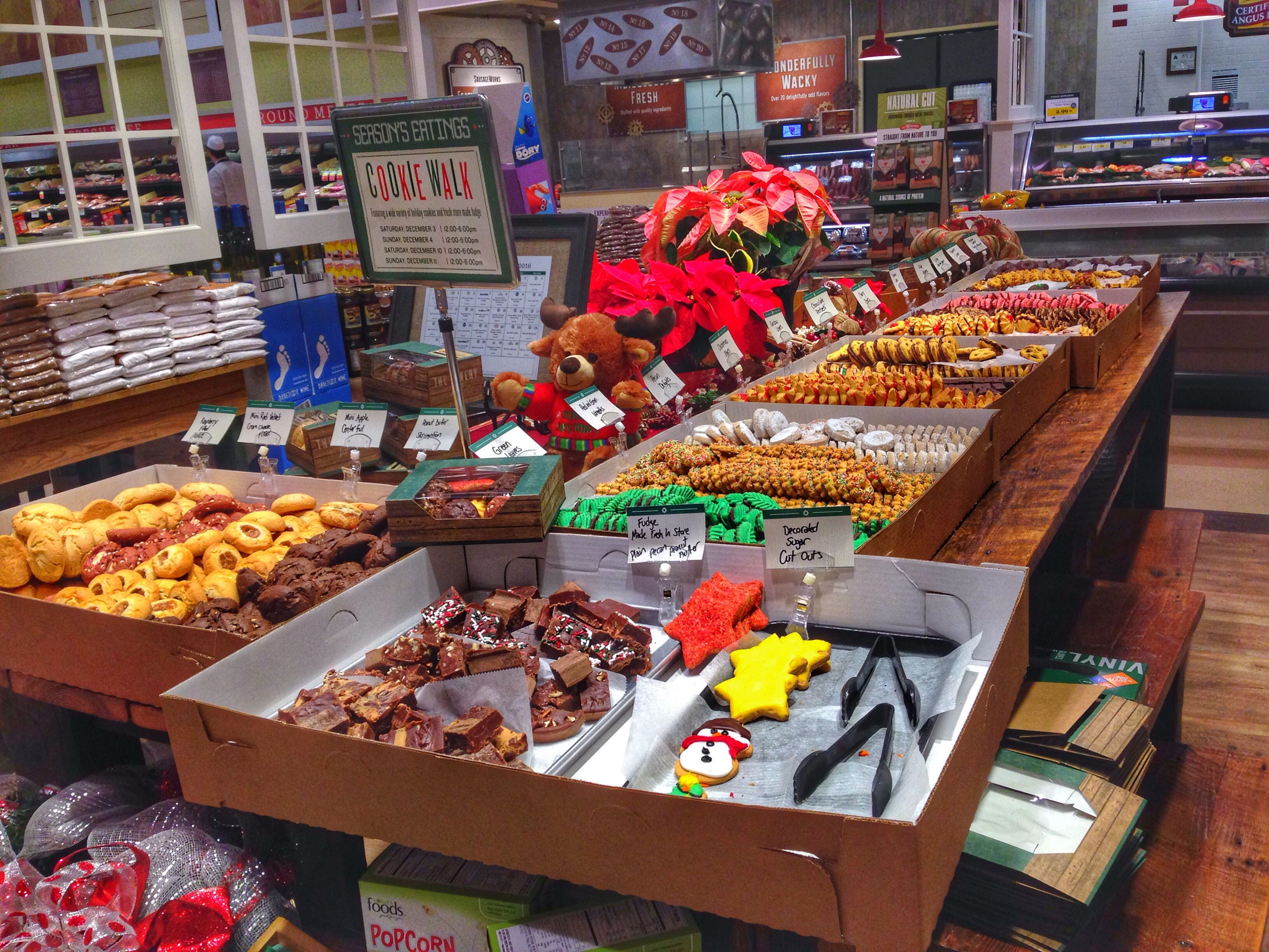 Cookie Walk includes a wide selection of holiday cookies