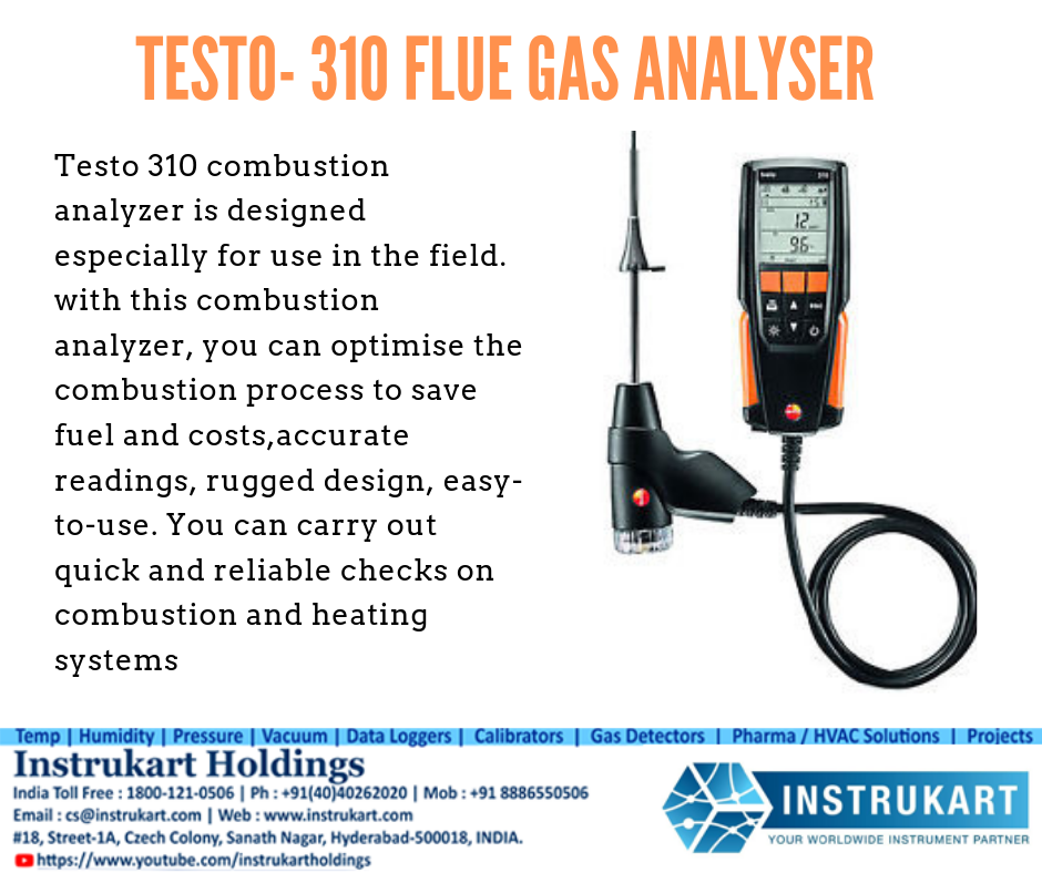 Testo 310 Flue Gas Analyser Buy Portable Flue Gas Analyzer Instukart Heating Systems Gas Save Fuel