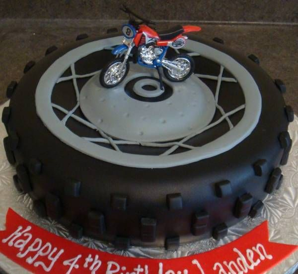 dirt bike cake ideas Dirtbike Tire Cake birthday cakes
