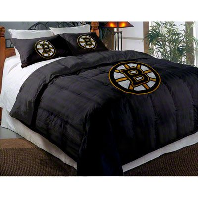 Boston Bruins Applique Full-Twin Comforter Set with Shams--need to convince  my man this is our new bedding 0d23c94ef