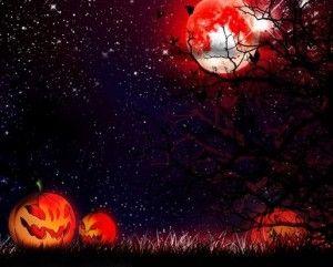 Hình nền halloween rùng rợn với mặt trăng đỏ | Hình nền ...