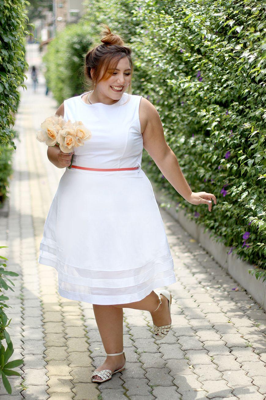 Meu Vestido Plus Size Branco Para Casamento Civil Looks