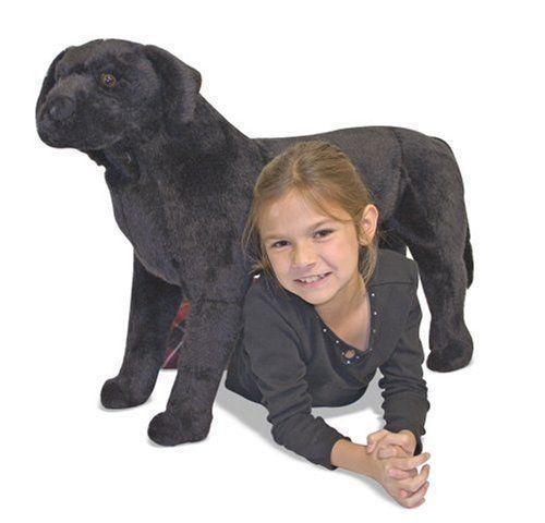New Melissa And Doug Large Black Lab Plush Stuffed Animal Toy Dog