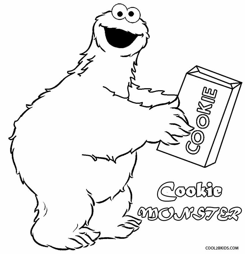 Printable Cookie Monster Coloring Pages For Kids