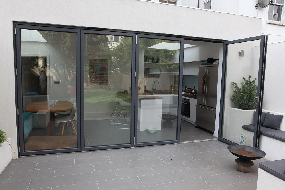 Graphite Grey Folding Sliding Doors Windows Pinterest Doors