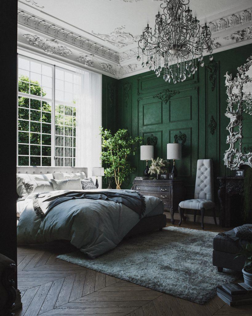 Best Of Blender Artists 2019 Week 22 In 2020 Green Bedroom Walls Green Bedroom Decor Green Interior Design