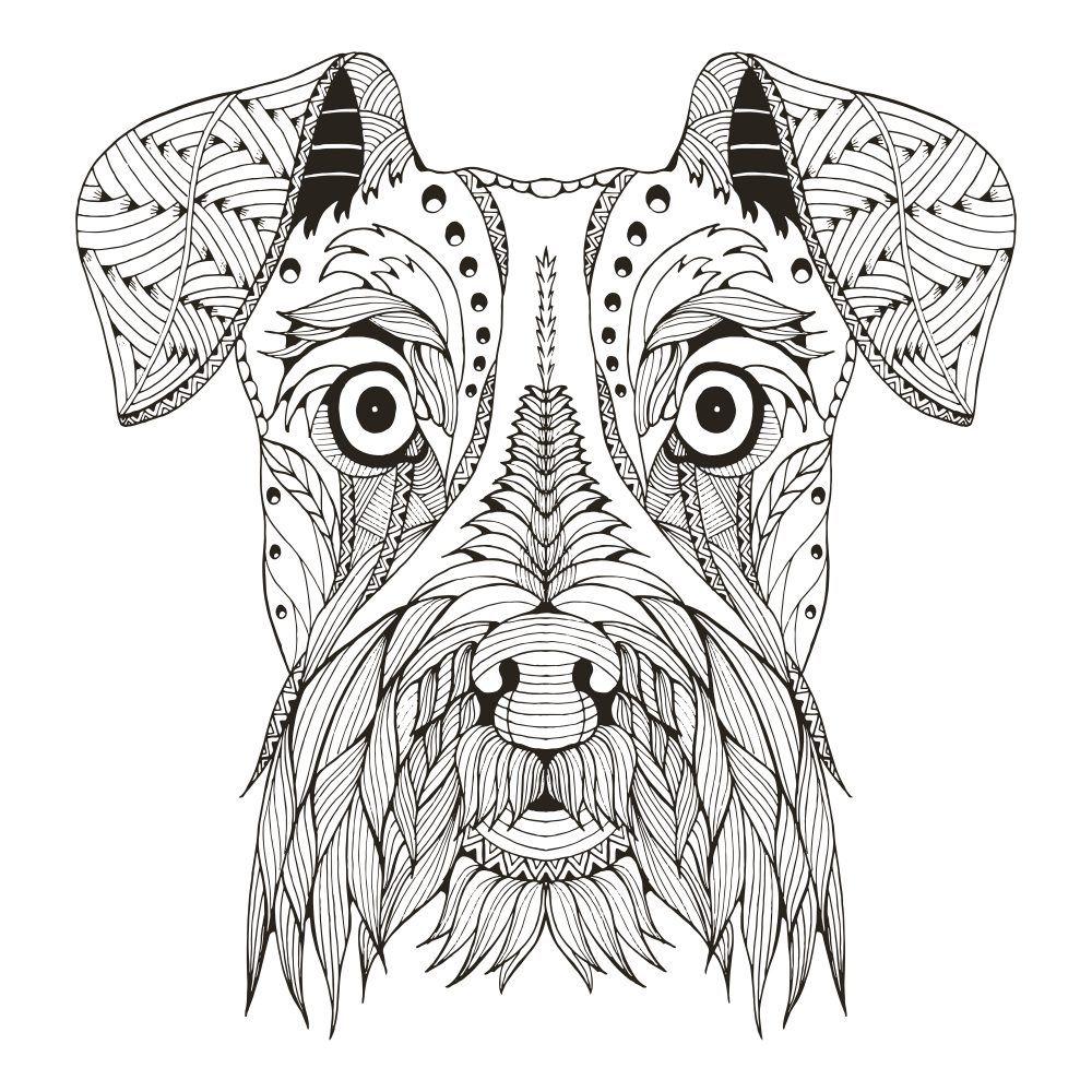 Dibujo De Mandalas De Perros