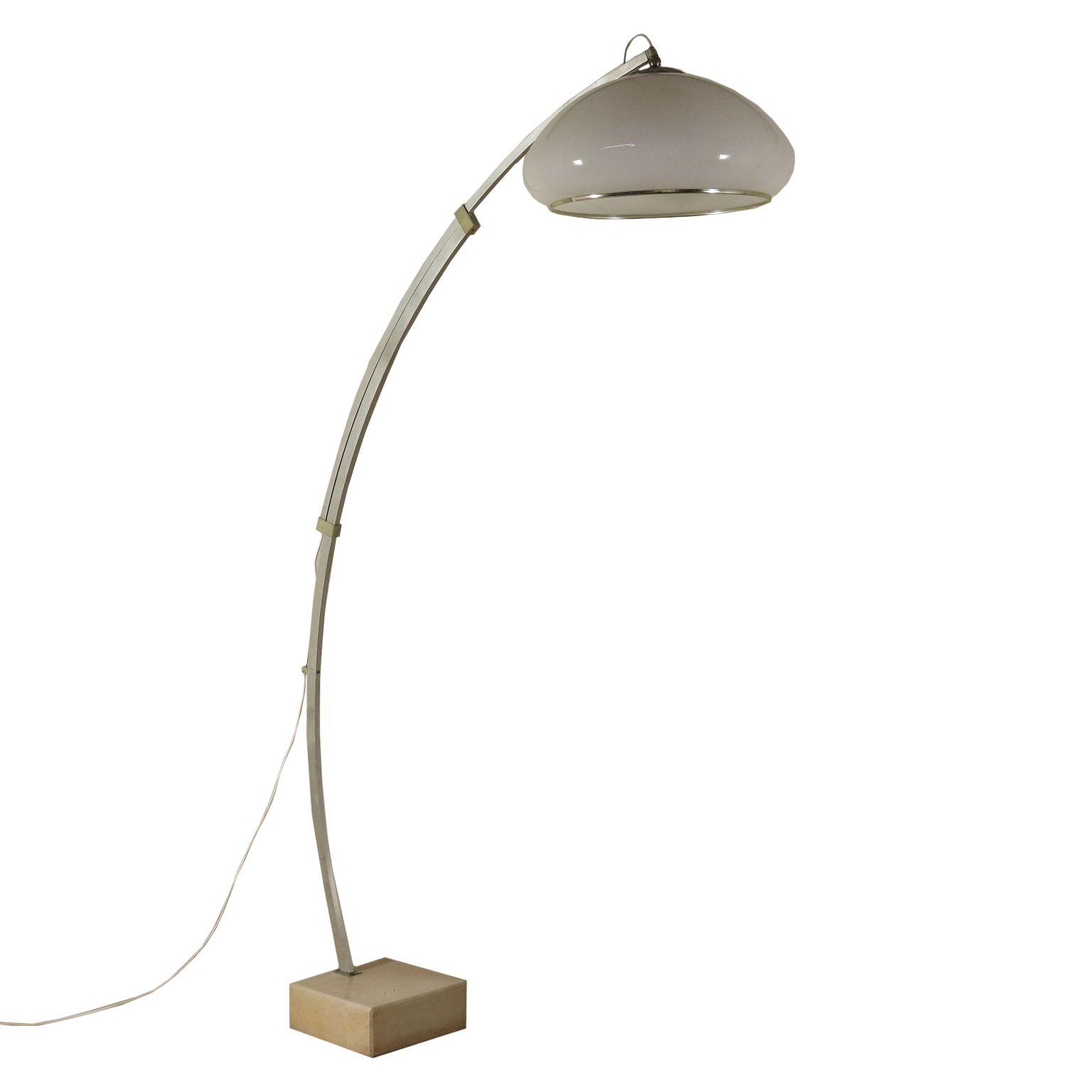 60er 70er Lampe Aluminium Marmor Italien 60er 70er Jahre Lampe