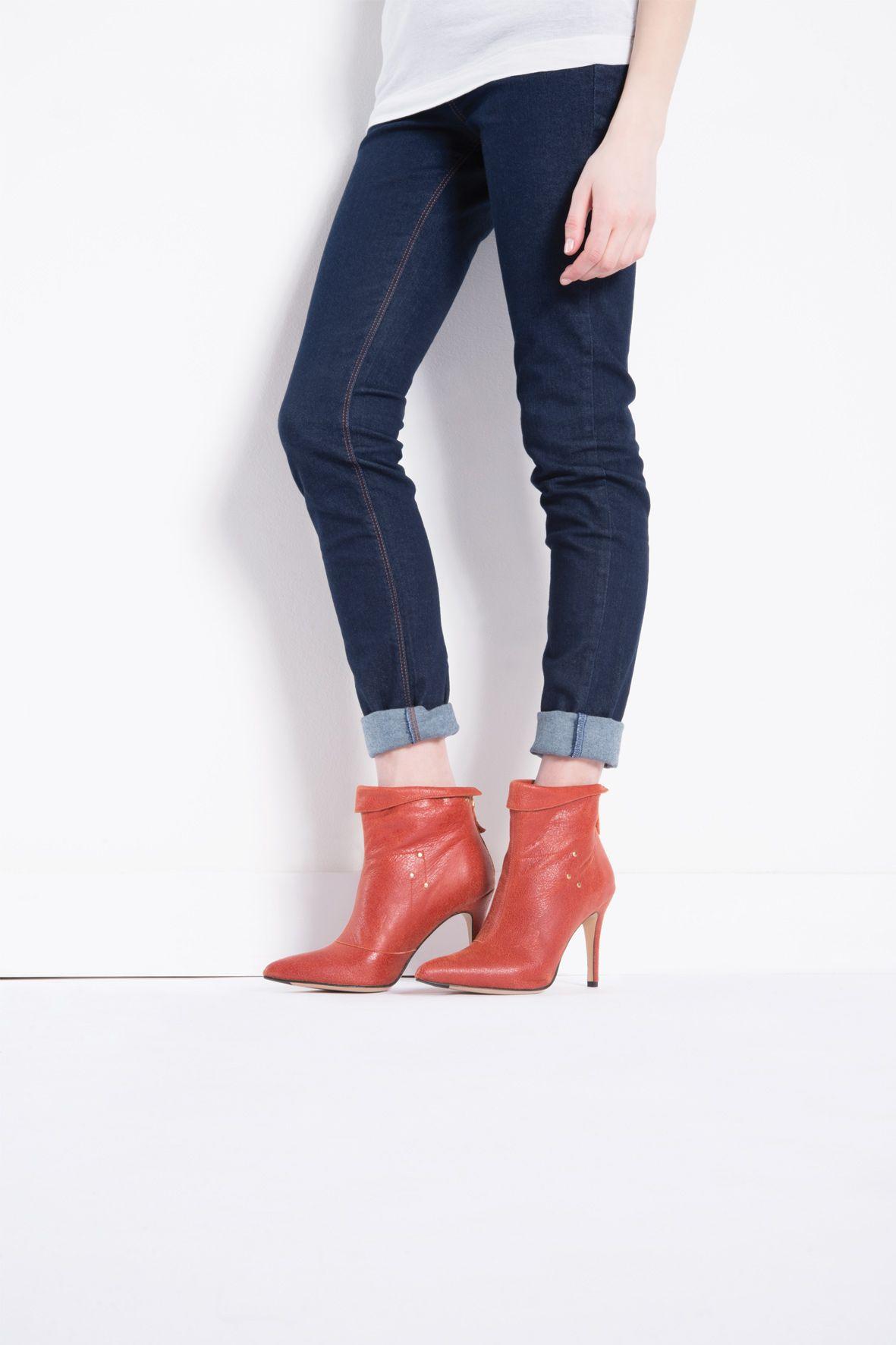 Suzanne rouille lambskin - Suzanne - Women's shoes // Jérôme Dreyfuss - Official Store