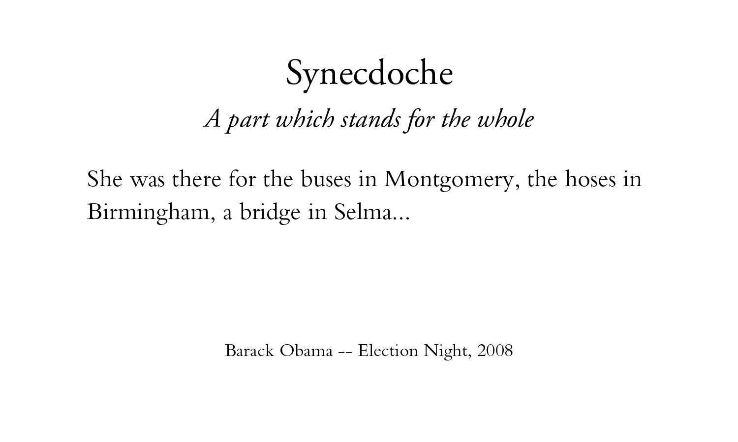 What is synecdoche 77