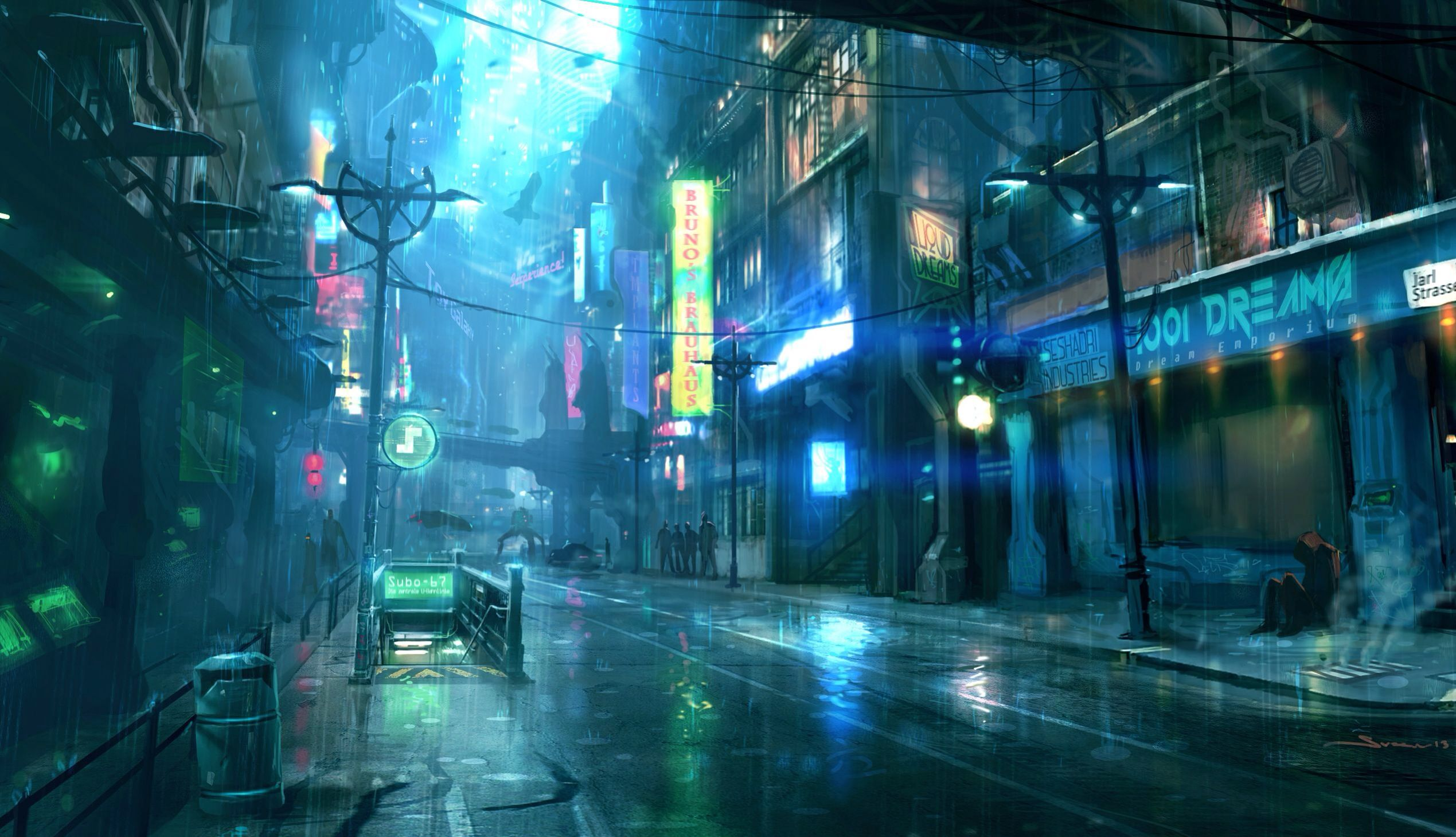 city Anime futuristic