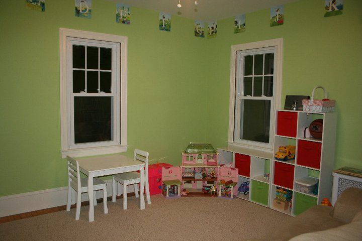 Sherwin Williams Dancing Green For Savannah S Room Green Playroom Kids Ministry Rooms Green Paint Colors