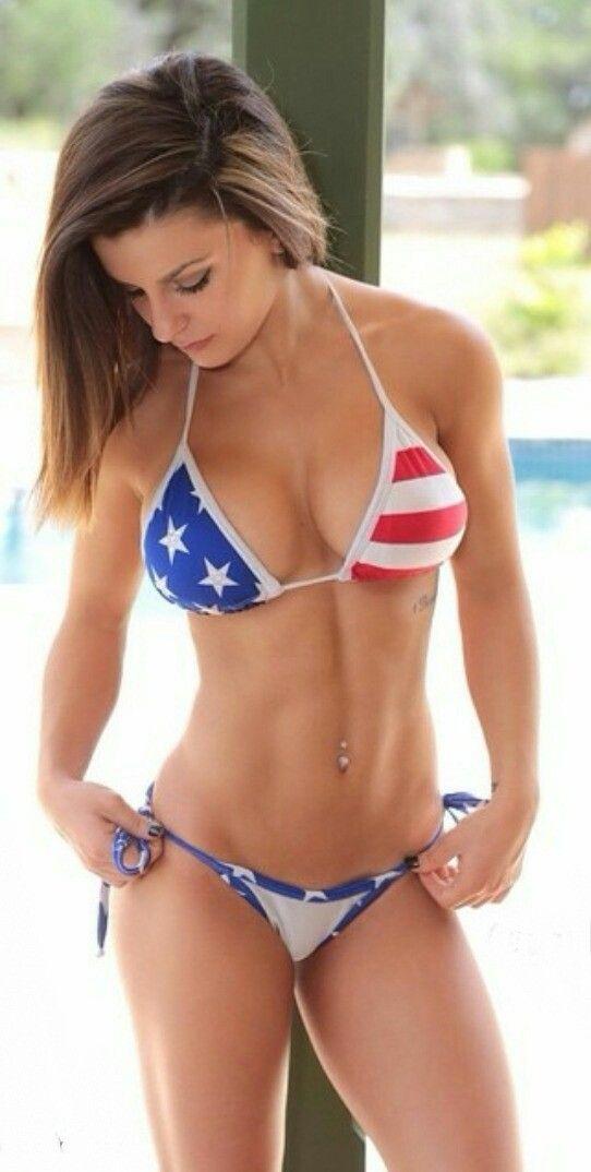 cf75f27541945 Best Swimsuits, Old Glory, Sexy Bikini, Bikini Girls, Thong Bikini, American