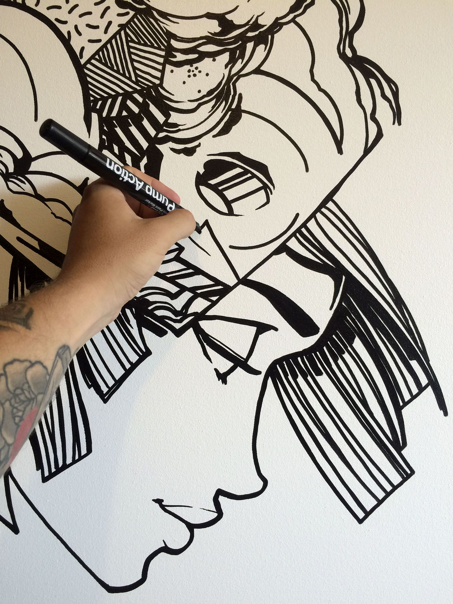 Babyzimmer Tattoo Sofles Work In Progress For Surface Tension Exhibition In Brisbane