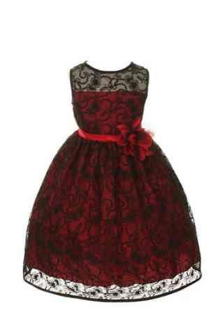 Vestidos rojos con negro para fiesta