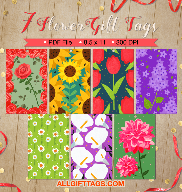 Printable flower gift tags get them in pdf format at http printable flower gift tags get them in pdf format at httpallgifttags negle Choice Image