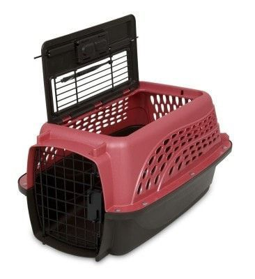 "DOG CONTAINMENT - CARRIERS - 19"" KENNEL TOPLOAD - ROSE/COFFEE - PETMATE - DOSKOCIL MFG CO, INC - UPC: 29695212271 - DEPT: DOG PRODUCTS"