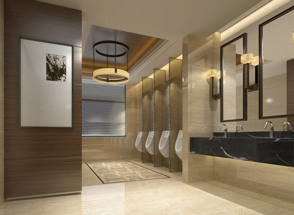 Commercial toilet design google search interiors for Modern washroom designs