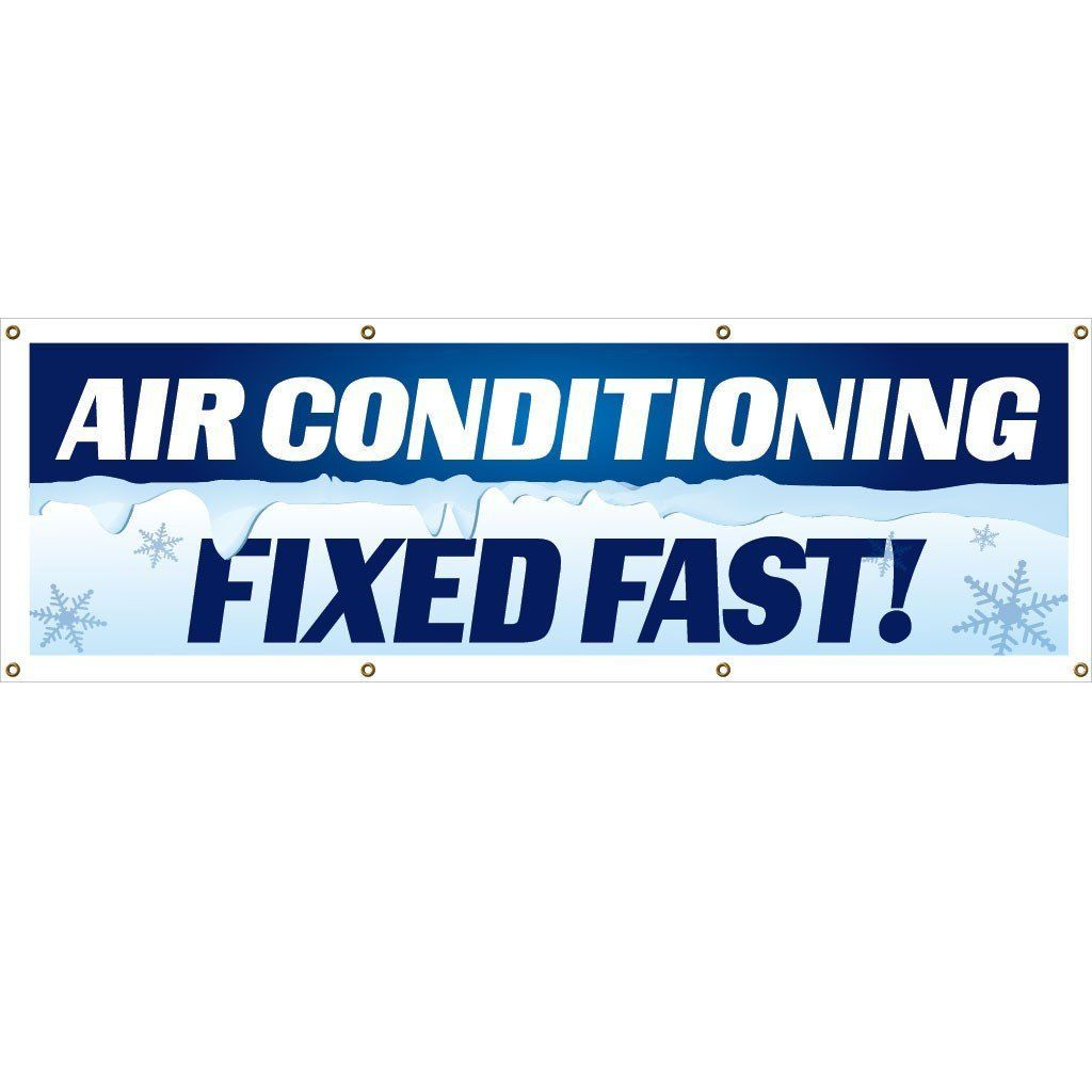 Air Conditioning Fixed Fast Vinyl Banner With Grommets Products - Vinyl banners with grommets