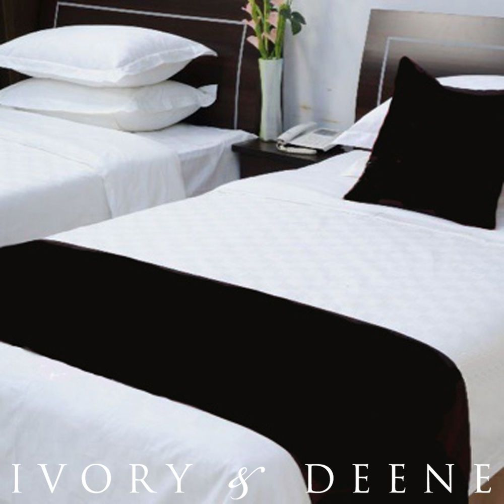 new luxury soft black fur double or queen size bed runner quality