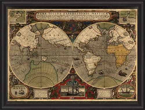 The world 1595 cartography pinterest cartography map globe shop antique old world map mouse pad created by mapgallery gumiabroncs Gallery
