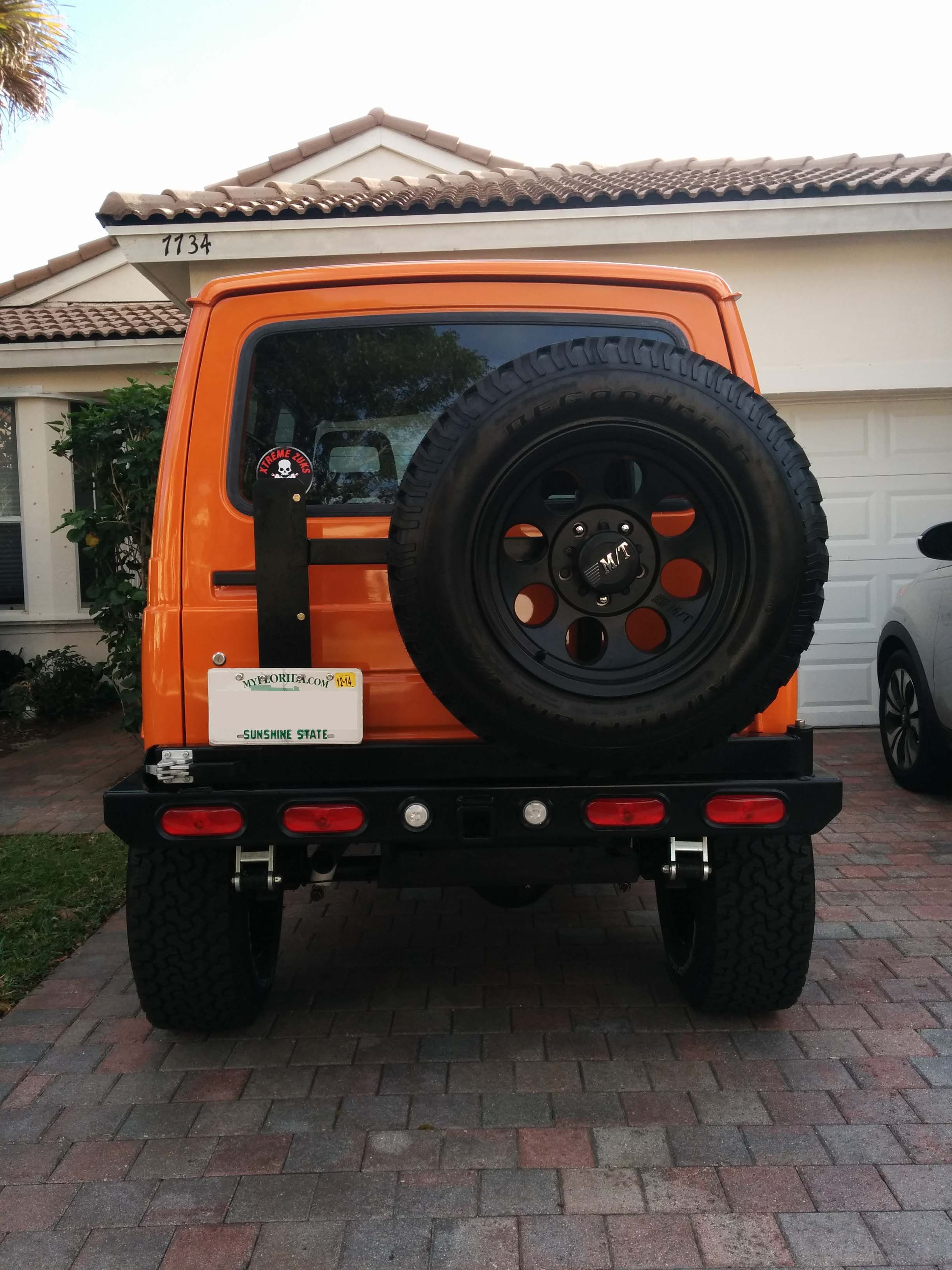 orange suzuki samuria rear view suzuki samurai pinterest rear view  [ 2448 x 3264 Pixel ]