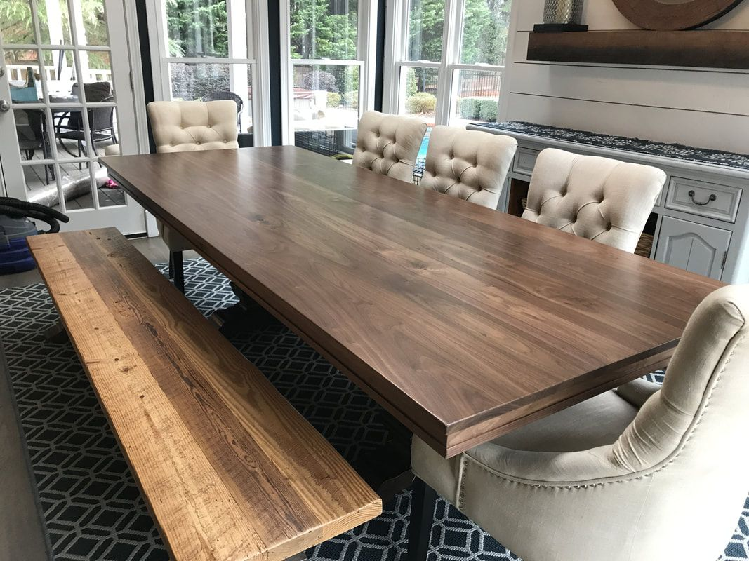Solid Walnut Dining Table Top