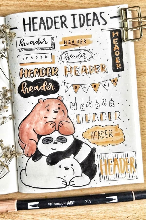 35+ Best Bullet Journal Header & Title Ideas For 2020 - Crazy Laura